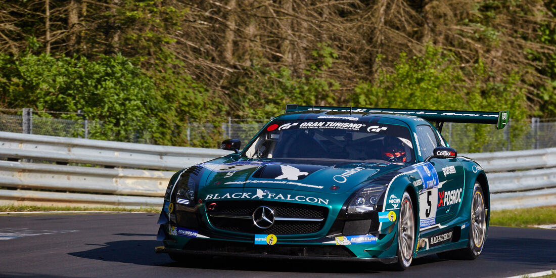 Black Falcon - Mercedes SLS AMG GT3 - #5 - 24h-Rennen Nürburgring 2015 - Top-30-Qualifying