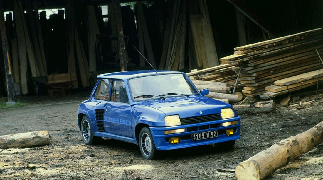 Blauer Renault 5 Turbo