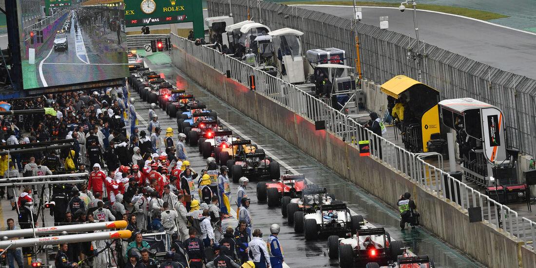 Boxengasse - GP Brasilien 2016 - Interlagos - Rennen