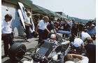 Brabham-BMW BT54 Turbo - Marc Surer - Charlie Whiting - Herbie Blash - GP Belgien 1985 - Formel 1