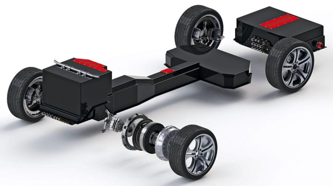 Brabus E4WD Full Electric, Grafik,, Antrieb
