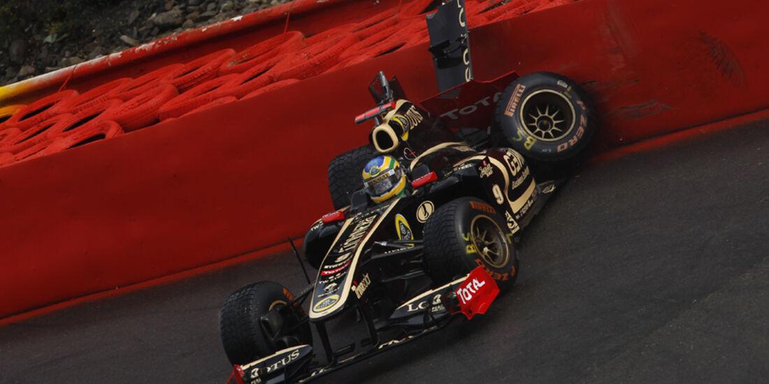Bruno Senna GP Belgien Crashs 2011