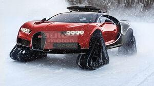 Bugatti Chiron Snowmobile