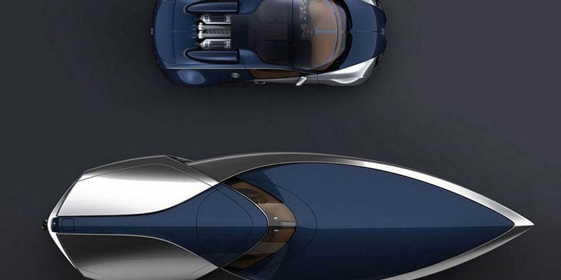 Bugatti Sang Bleu Yacht Concept, Yacht, Sportboot