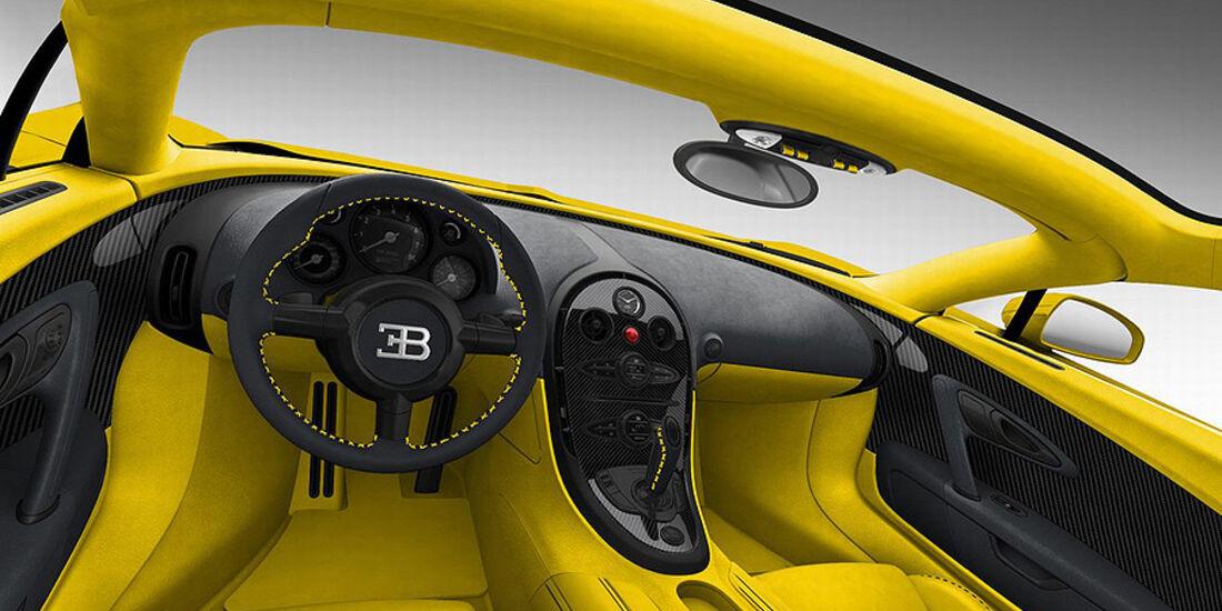 Bugatti Veyron Grand Sport Yellow Black