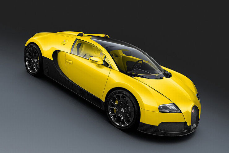 Bugatti Veyron Grand Sport Yellow Black