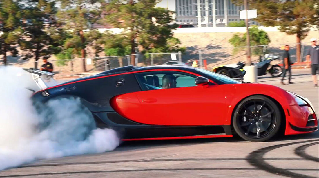 Bugatti Veyron mit Hinterradantrieb