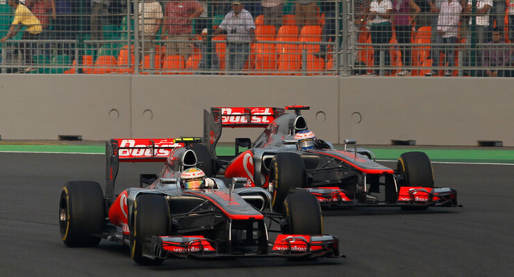 Button & Hamilton - McLaren - GP Indien 2012
