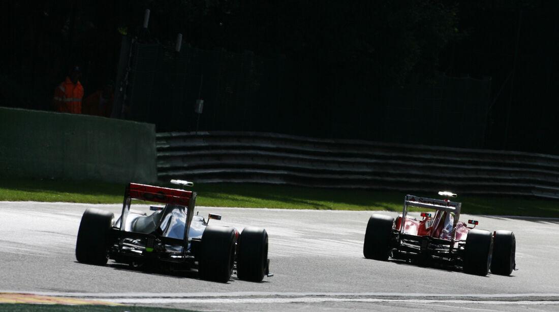 Button & Massa - Formel 1 - GP Belgien - Spa-Francorchamps - 1. September 2012