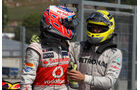 Button & Rosberg GP Ungarn 2012