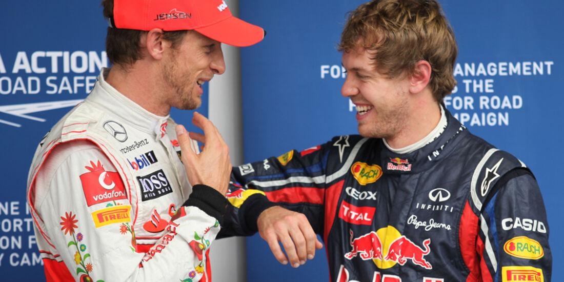 Button & Vettel - GP Brasilien - 26. November 2011