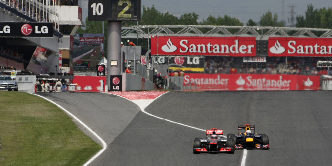 Button & Vettel GP Spanien 2012