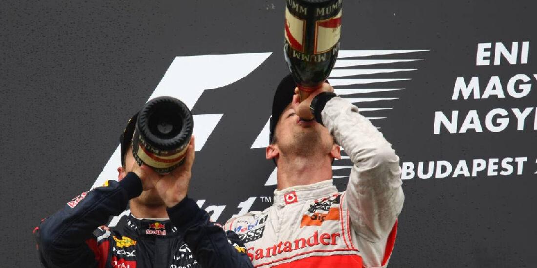 Button Vettel - GP Ungarn - Formel 1 - 31.7.2011 - Highlights