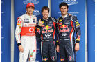 Button, Vettel & Webber - GP Brasilien - 26. November 2011