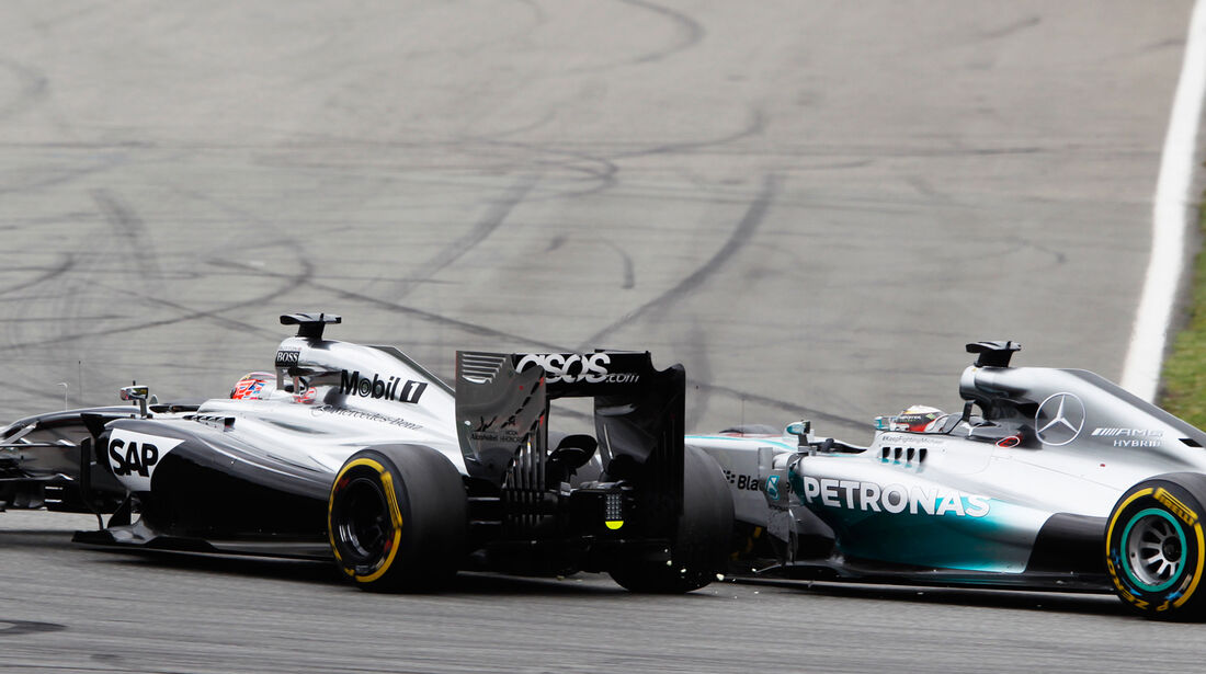Button vs. Hamilton - GP Deutschland 2014