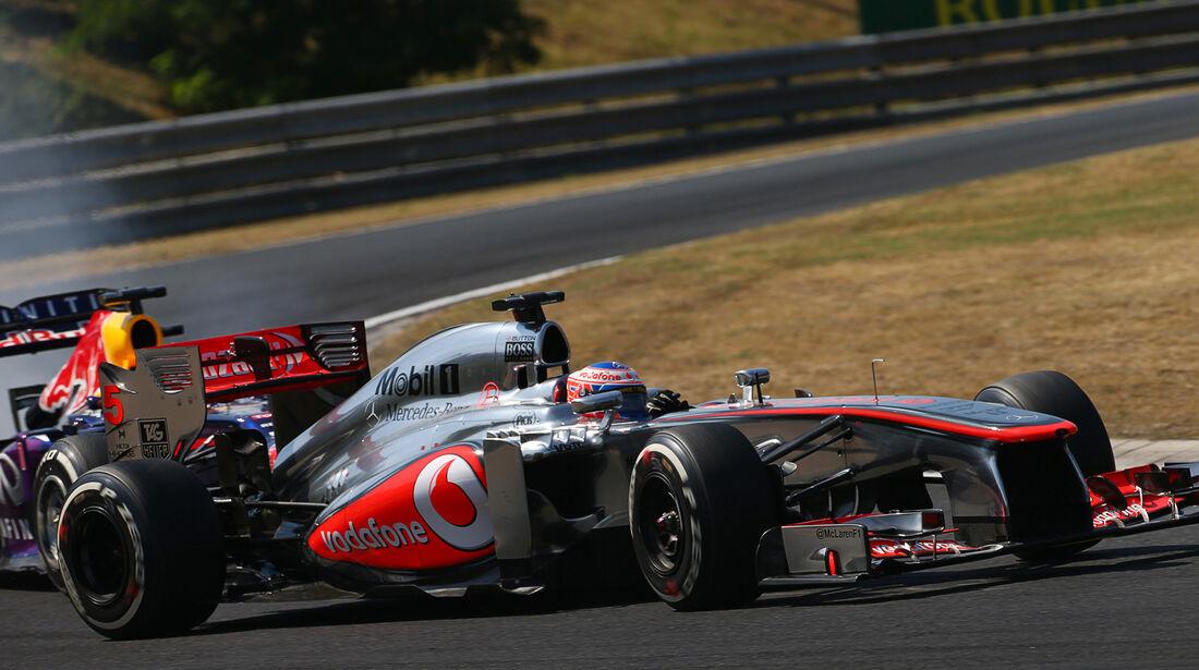 Button vs. Vettel - Formel 1 - GP Ungarn 2013