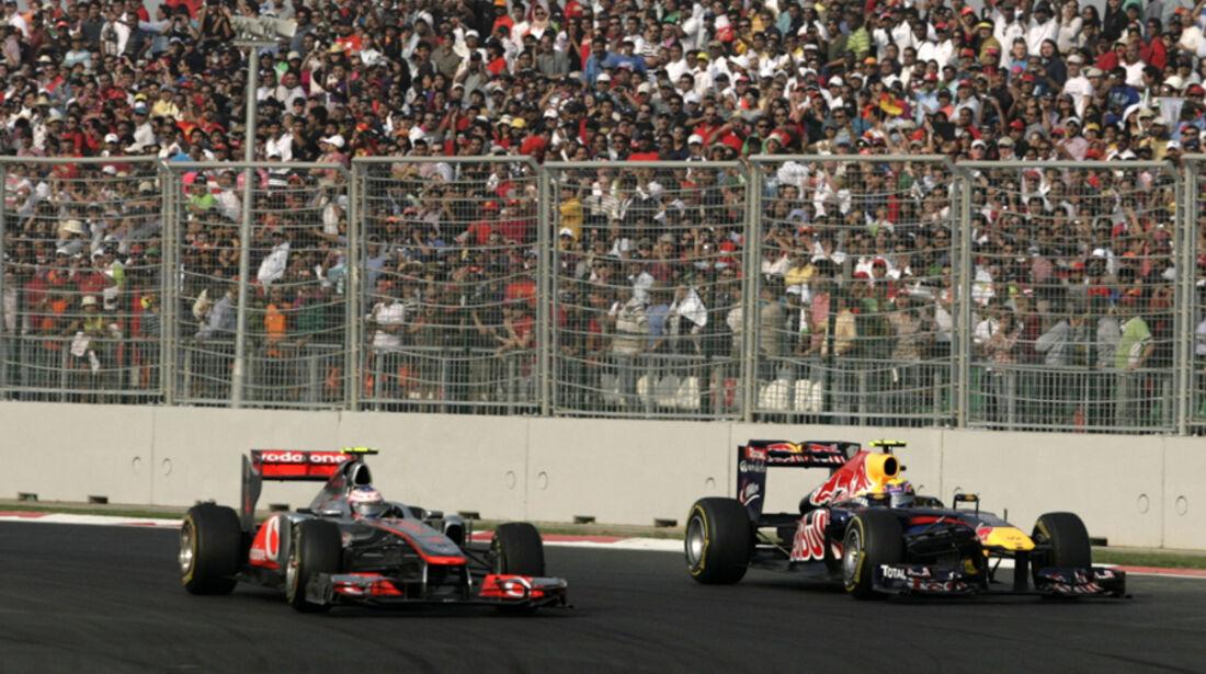 Button vs. Webber GP Indien 2011