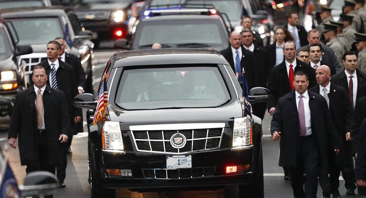 Cadillac One The Beast: Die Präsidenten-Limousine von Trump - auto ...