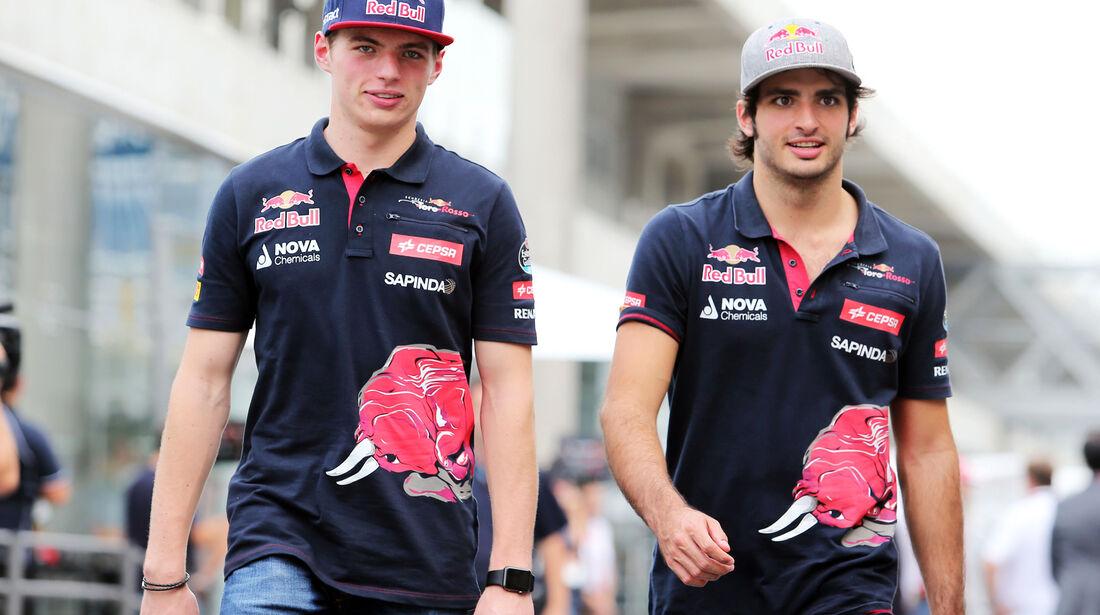 Carlos Sainz - Max Verstappen  - Formel 1 - GP Brasilien- 13. November 2015
