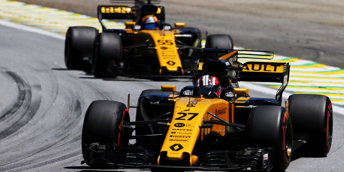 Carlos Sainz - Nico Hülkenberg - Renault - Formel 1 - GP Brasilien - 12. November 2017
