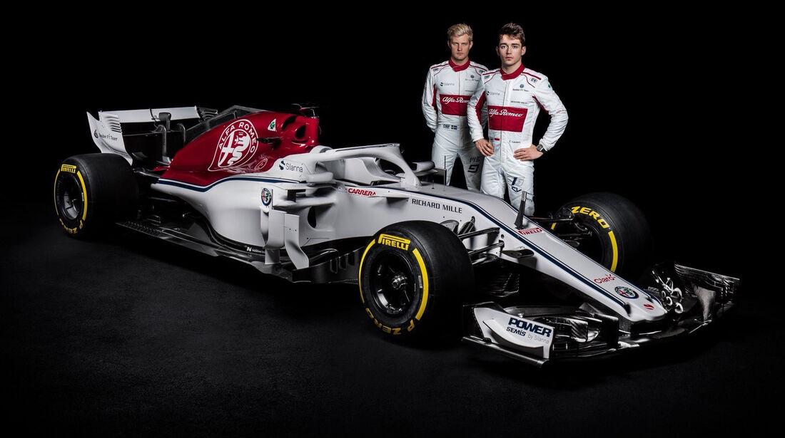 Charles Leclerc & Marcus Ericsson - Sauber-Alfa Romeo - 2018