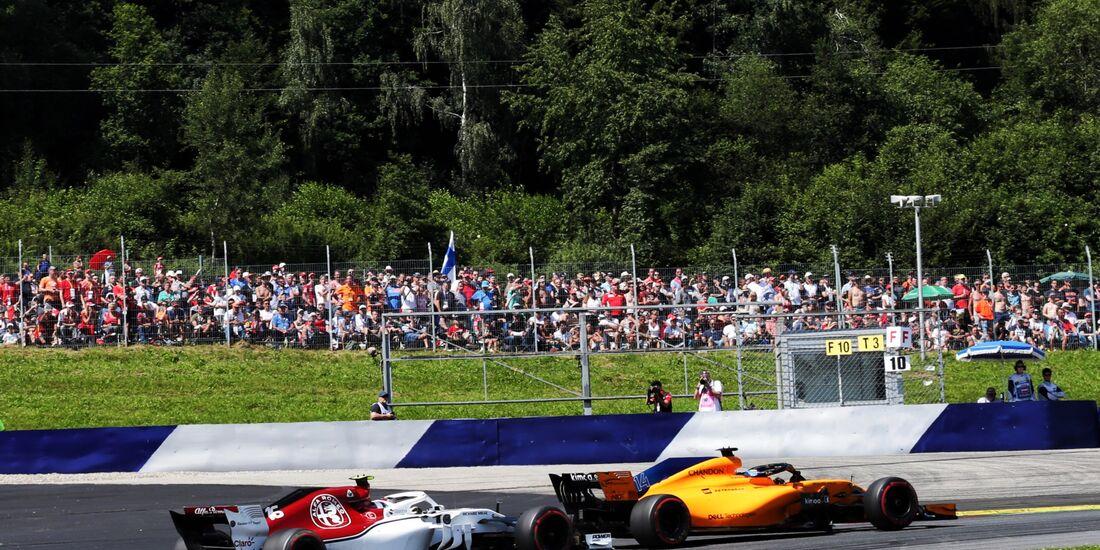 Charles Leclerc - Sauber - Fernando Alonso - McLaren - Formel 1 - GP Österreich - 1. Juli 2018