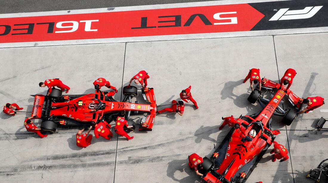Charles Leclerc - Sebastian Vettel - Ferrari - GP China - Shanghai - Samstag - 13.4.2019
