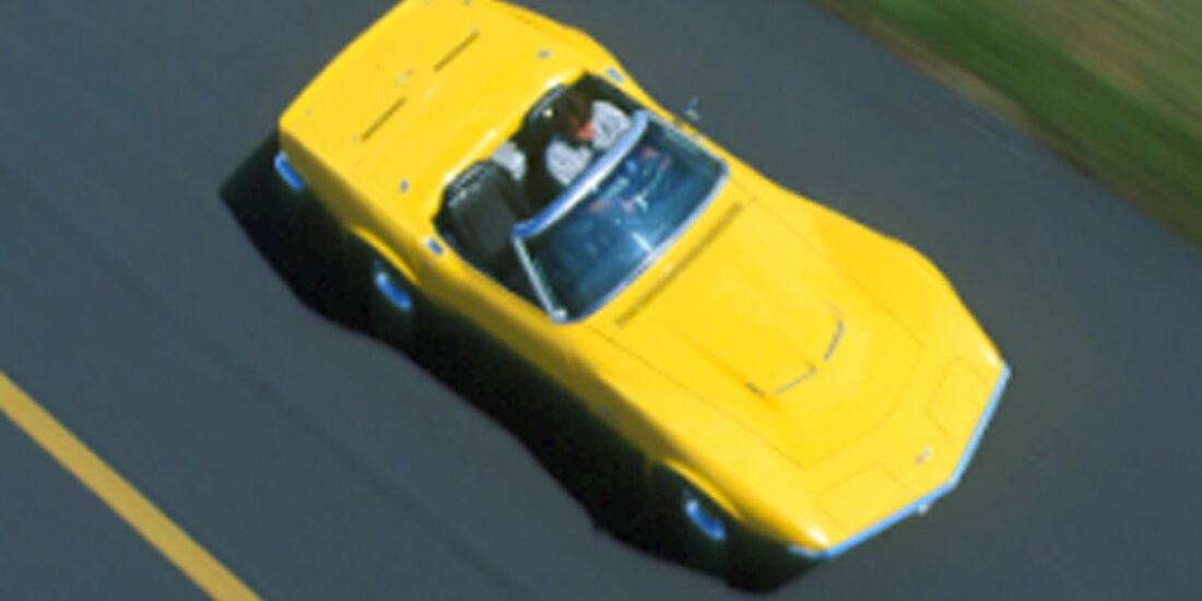 Chevrolet Corvette Stingray 454 - Vogelperspektive
