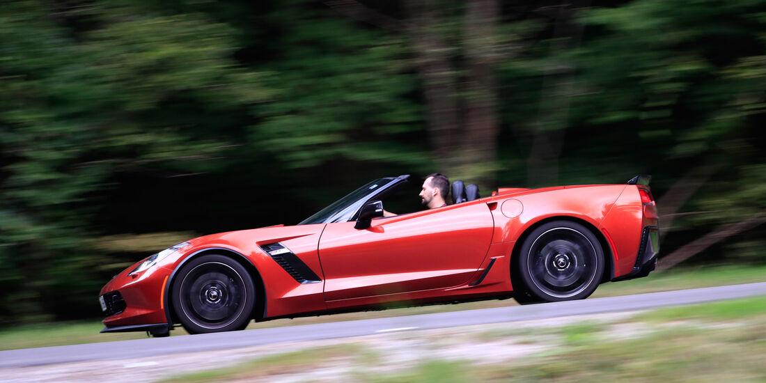Chevrolet Corvette Z06 Cabriolet, Seitenansicht