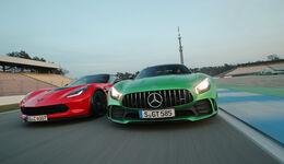 Chevrolet Corvette Z06 - Mercedes AMG GT R - Sportwagen - Test