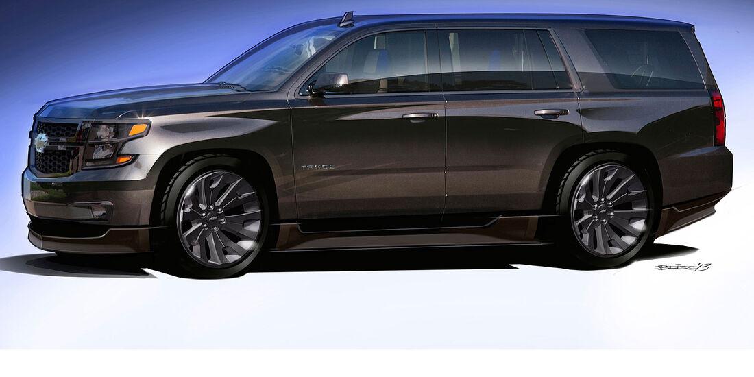 Chevrolet Tahoe Black Concept Sema 2013