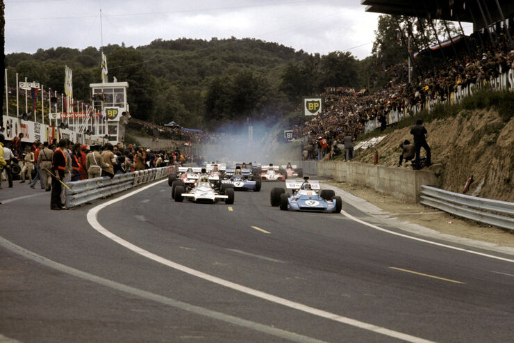 Chris Amon - Matra Simca MS120D - Denny Hulme - McLaren M19C - GP Frankreich 1972 - Clermont-Ferrand