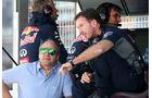 Christian Horner - Gerhard Berger - GP Spanien - Barcelona - Freitag - 8.5.2015
