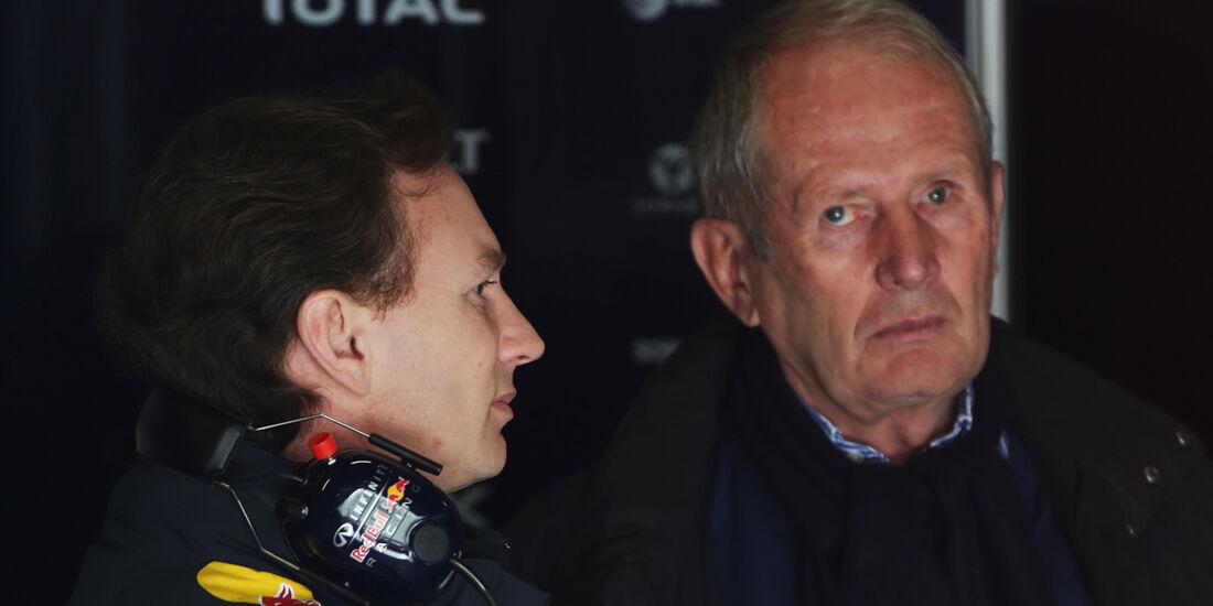 Christian Horner - Helmut Marko - Red Bull - Formel 1 - Test - Barcelona - 3. März 2013