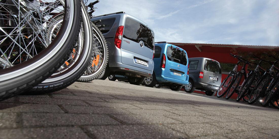 Citroën Berlingo, Opel Combo, VW Caddy, Heck