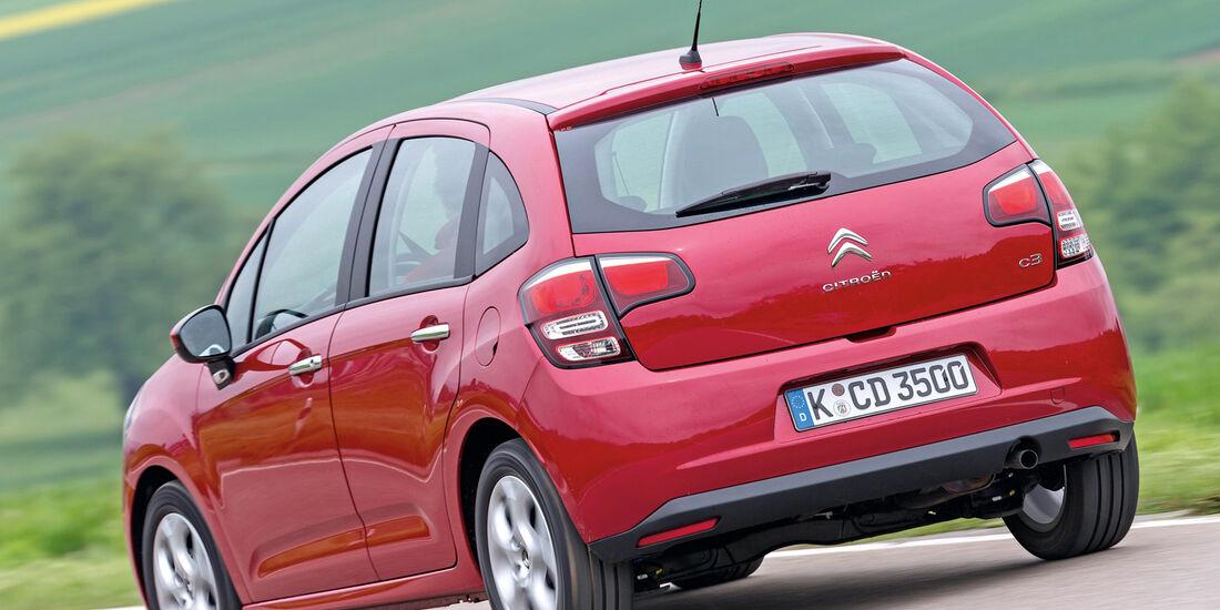 Citroën C3 VTi 82, Heckansicht