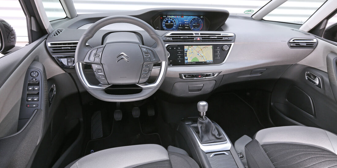 Citroën C4 Picasso E-HDi 115, Cockpit, Lenkrad