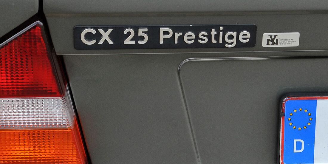 Citroën CX Prestige, Typenbezeichnung