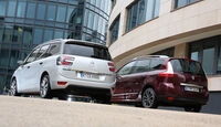 Citroën Grand C4 Picasso BlueHDi 150, Renault Grand Scénic dCi 150 FAB, Heckansicht