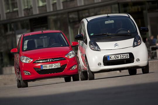 Citroen C-Zero und Hyundai i10