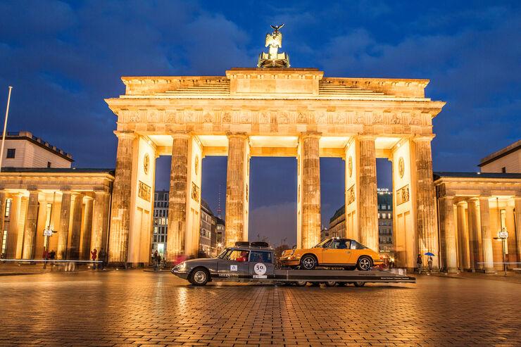 Citroen DS Tissier, Seitenansicht, Brandenburger Tor
