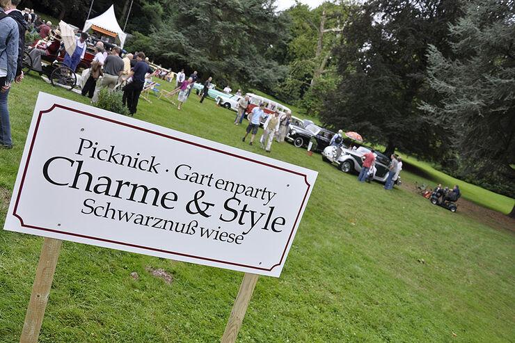 Classic Days Schloss Dyck - Schild