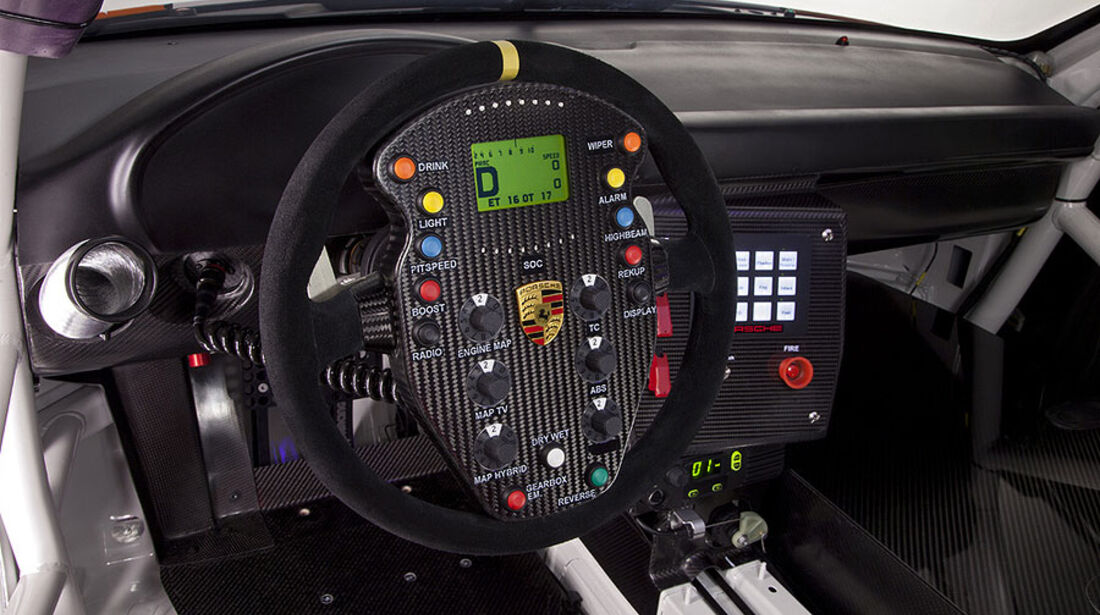 Cockpit, Porsche 911 GT3 R Hybrid
