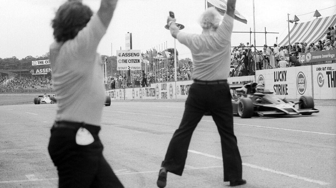 Colin Chapman - Ronnie Peterson - Lotus 78 - GP Südafrika 1978 - Kyalami