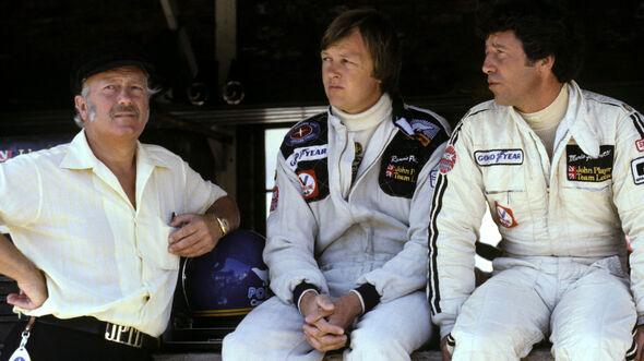 Colin Chapman - Ronnie Peterson - Mario Andretti - Lotus - GP Südafrika 1978 - Kyalami