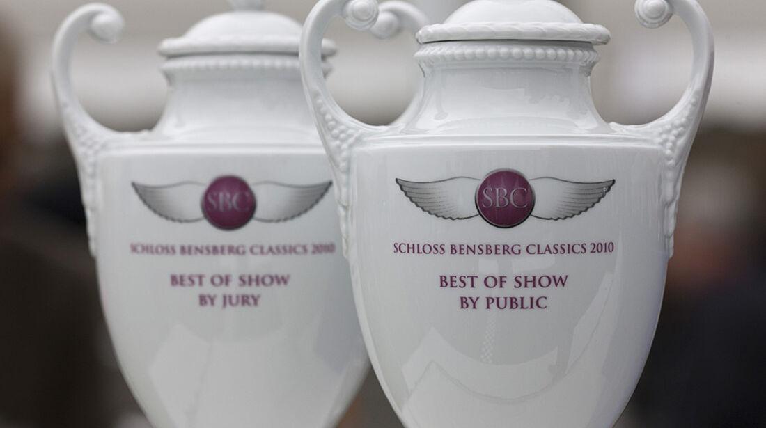Concours d'Elegance-Pokale der Schloss Bensberg Classics