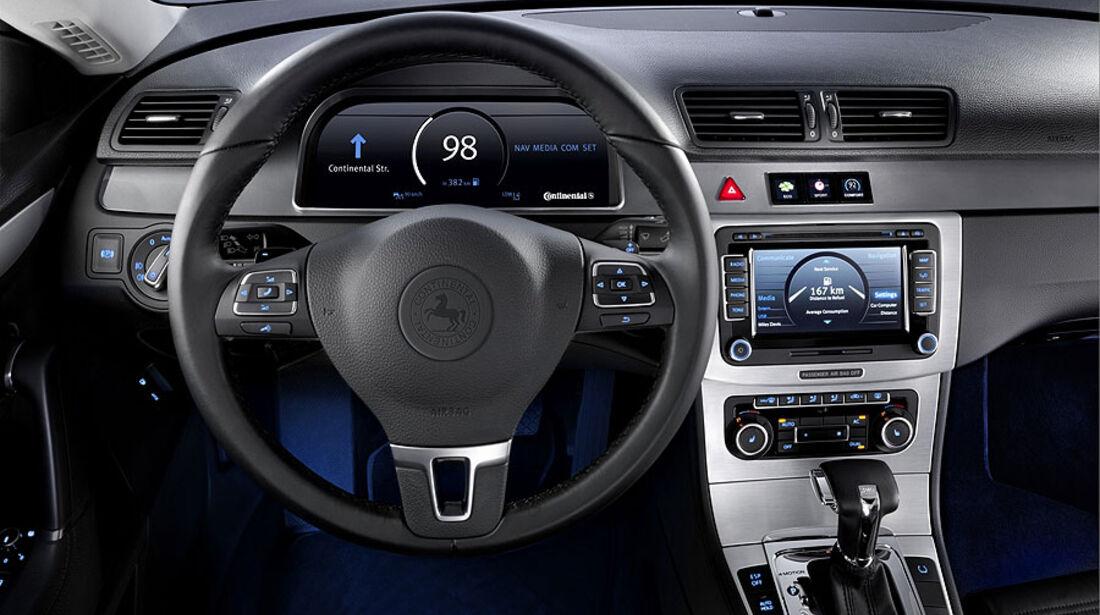 Continental Versuchsträger VW Passat Cockpit