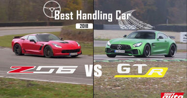 Corvette Z06 vs. Mercedes-AMG GT R, Best Handling Car 2018