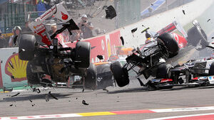 Crash GP Belgien 2012