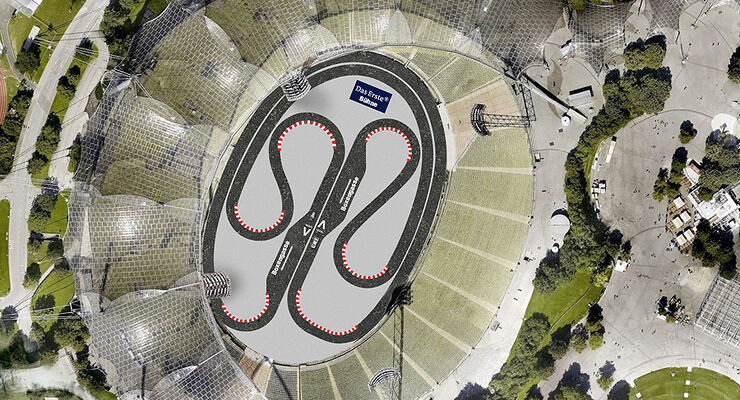 DTM Olympiapark München Streckenlayout